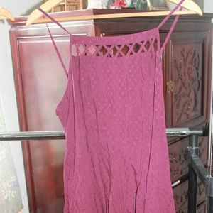 NEW Urban Outfitter Maroon  Lace Romper size 8